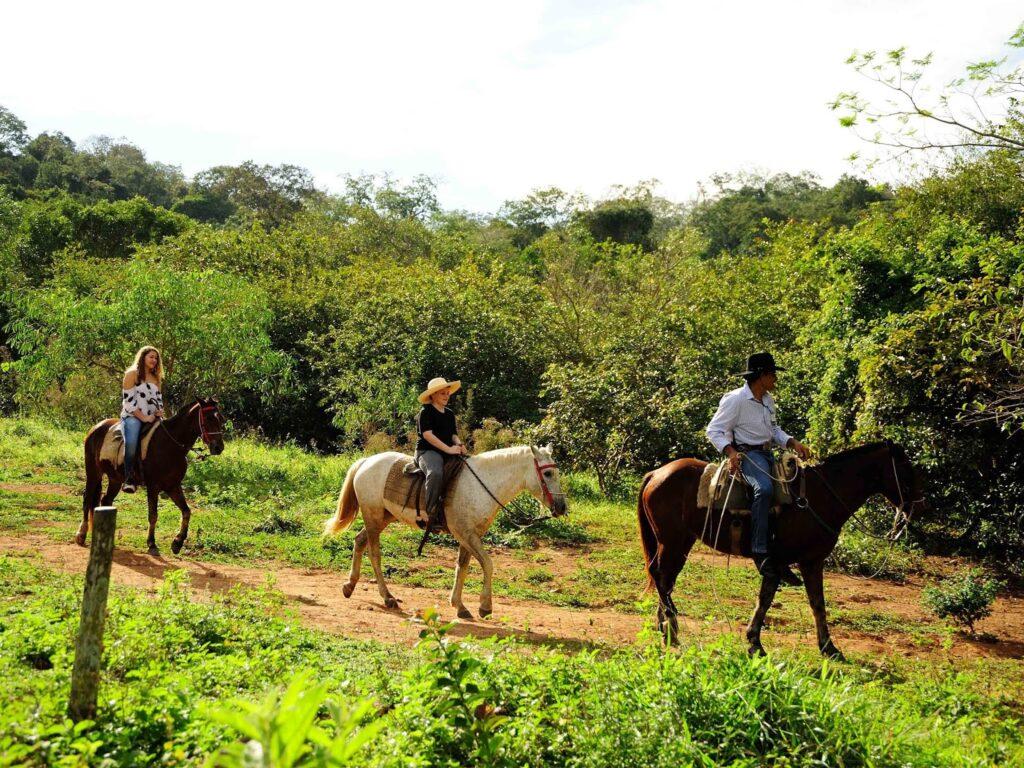 Horseback riding at Estȃncia Mimosa Ecoturismo