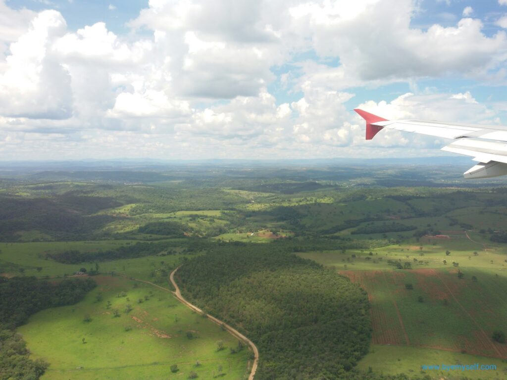 View of Minas Gerais from the plane