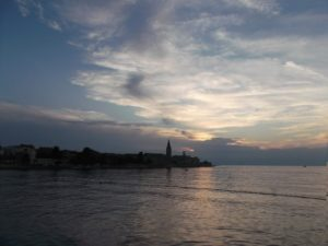 View of the historic center of Porec in Istria, Croatia