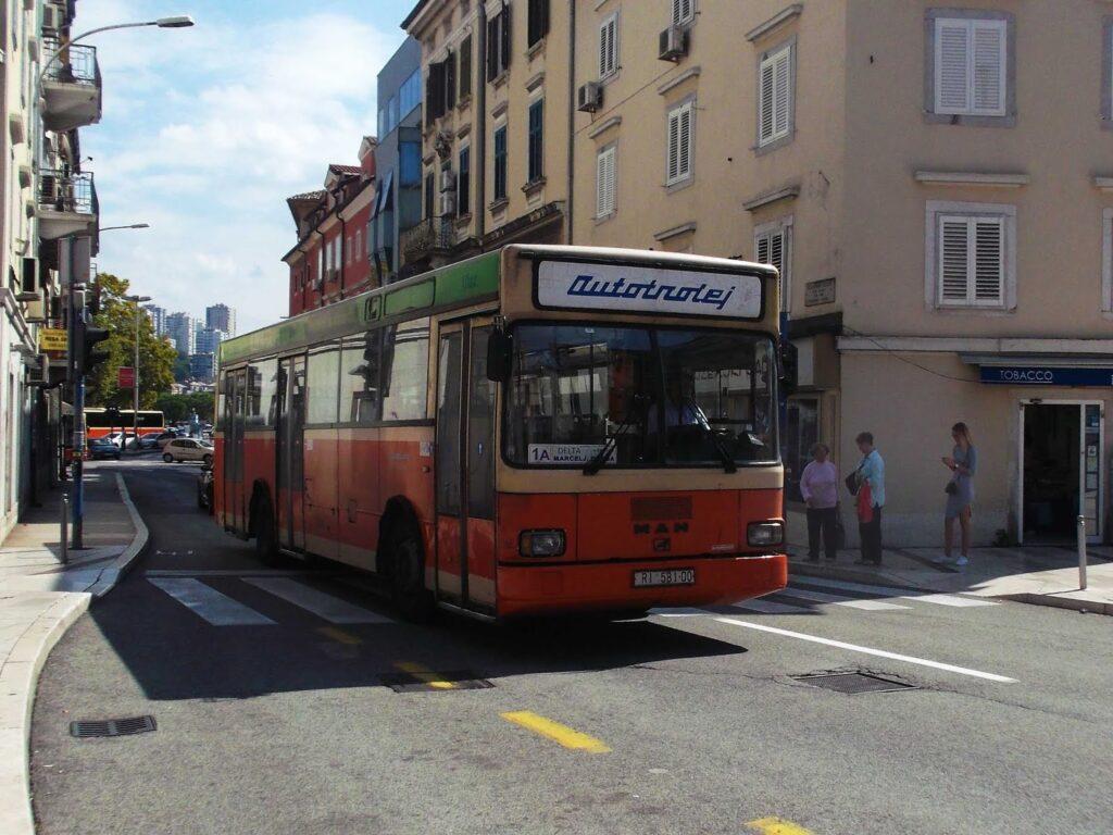 Rijeka's public busses in a very hip retro-style.