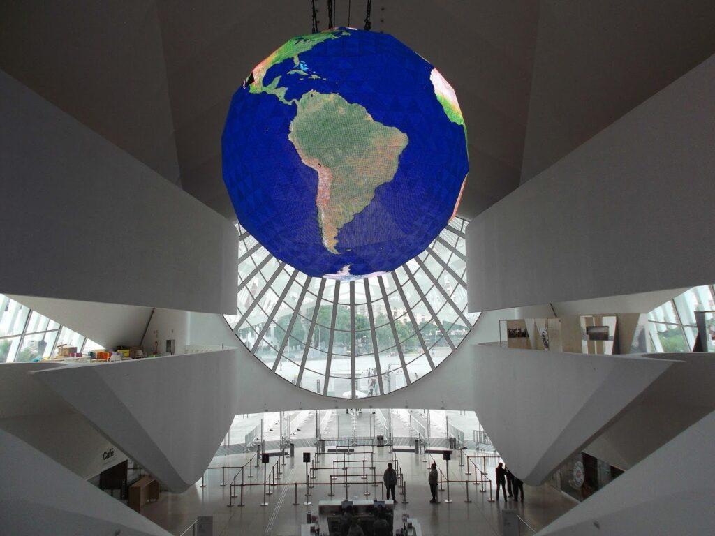 Globe at the Museu do Amanha