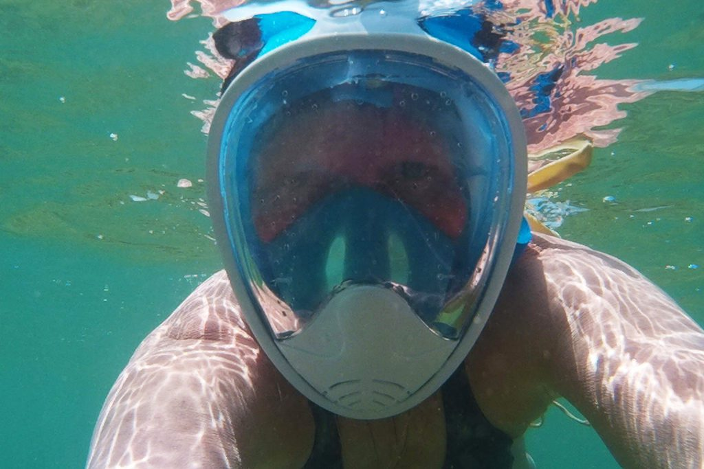 Renata Green snorkeling with a mask