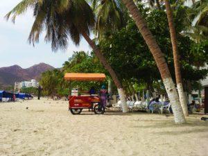 Rodadero Beach at Santa Marta, Colombia
