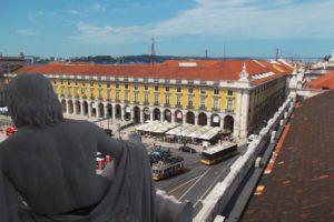View of the Praça do Comércio in Lisbon