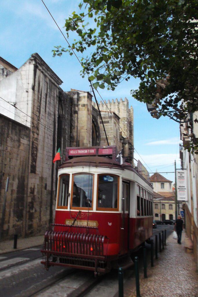 Red Tram 28 in Lisbon