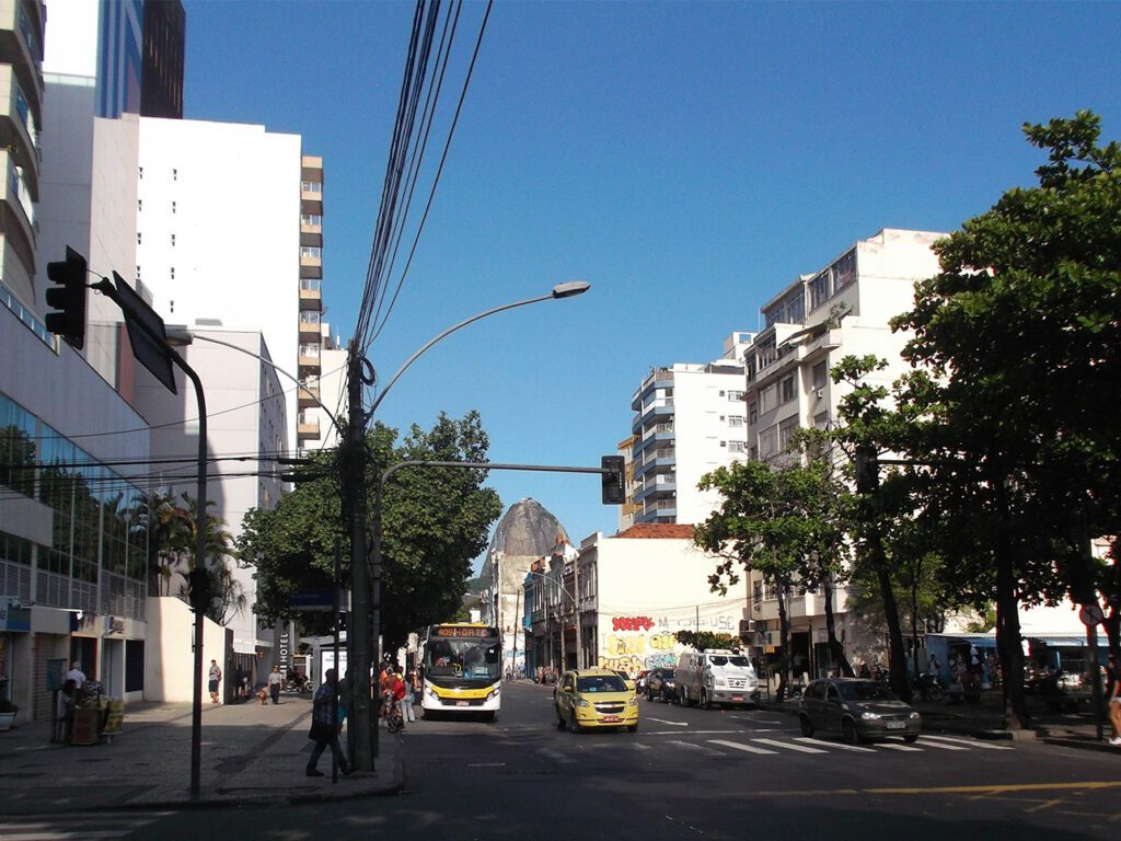 Neighborhood of Botafogo from where you can see the Pao de Acucar.