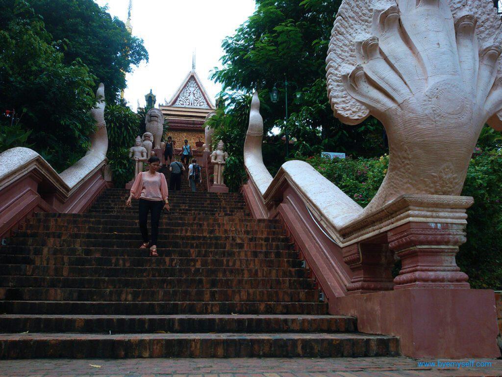 Stairs to Wat Phnom.