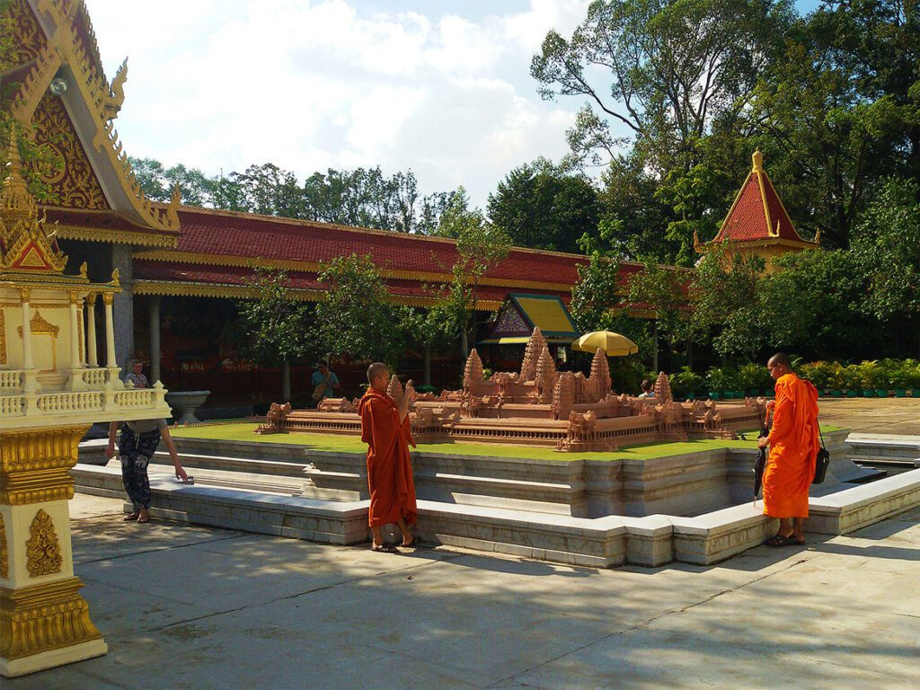 Monks at the Royal Palace in Phnom Penh