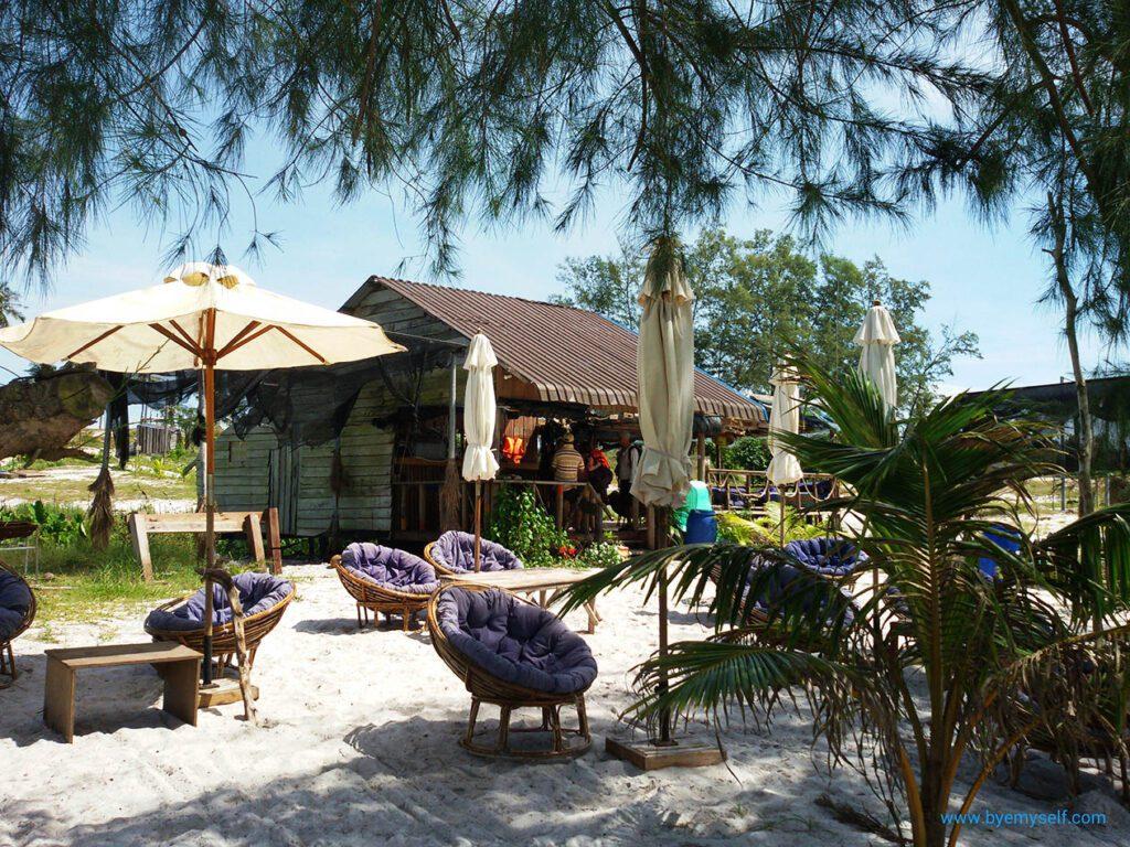 Beach Bar on Sok San Beach on Koh Rong