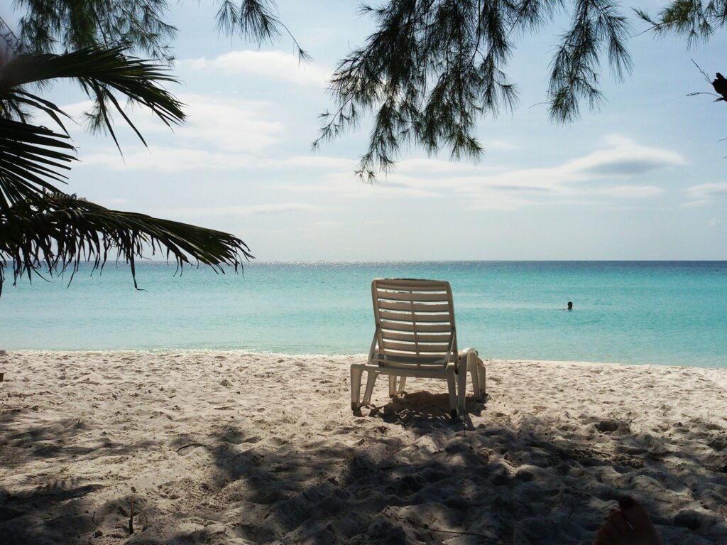 Chair on the beach of Koh Rong