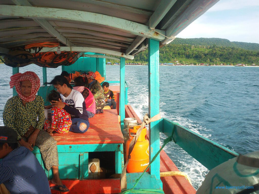 On a boat going from Koh Rong to Koh Rong Samloem