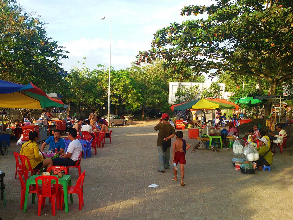 Street restaurant in Sihanoukville