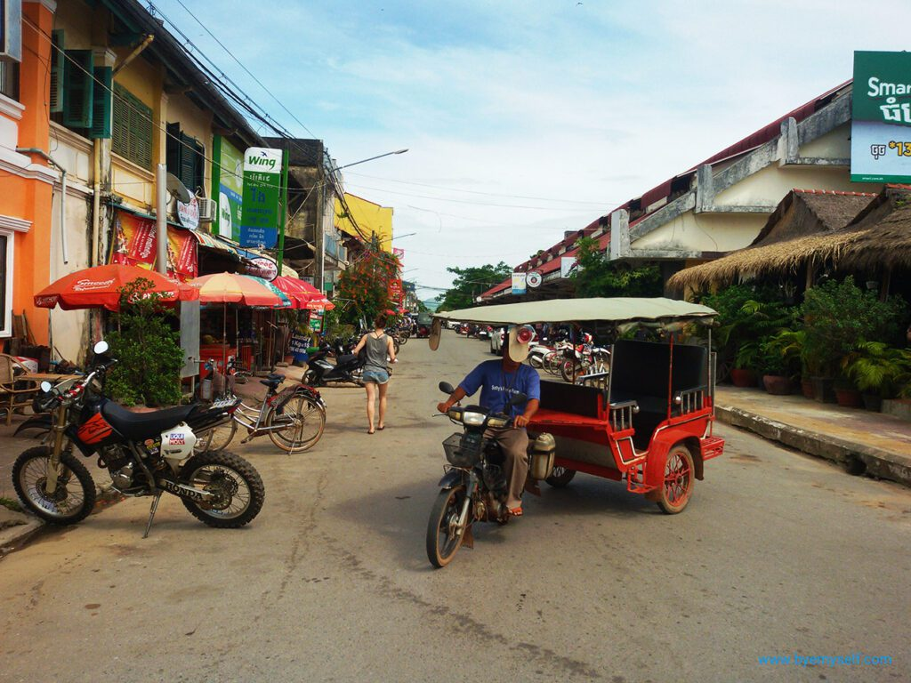 Street in KAMPOT from where to go to Thansur Bokor and back