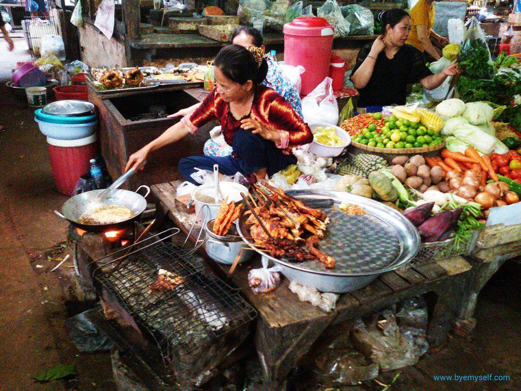 Market in Kampot