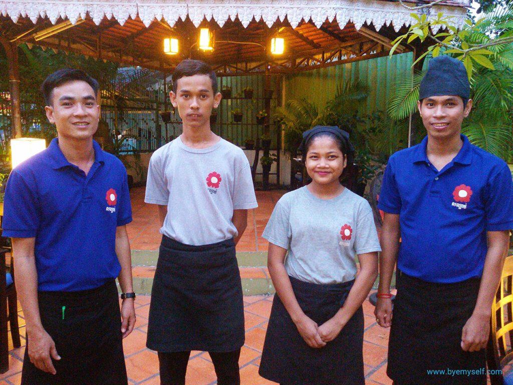 The lovely, talented staff of Sandan Restaurant.