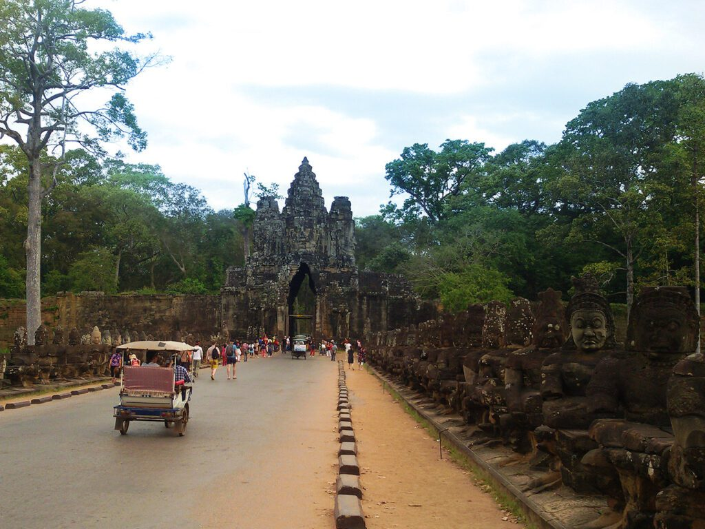 heading for Angkor Thom through the South Gate