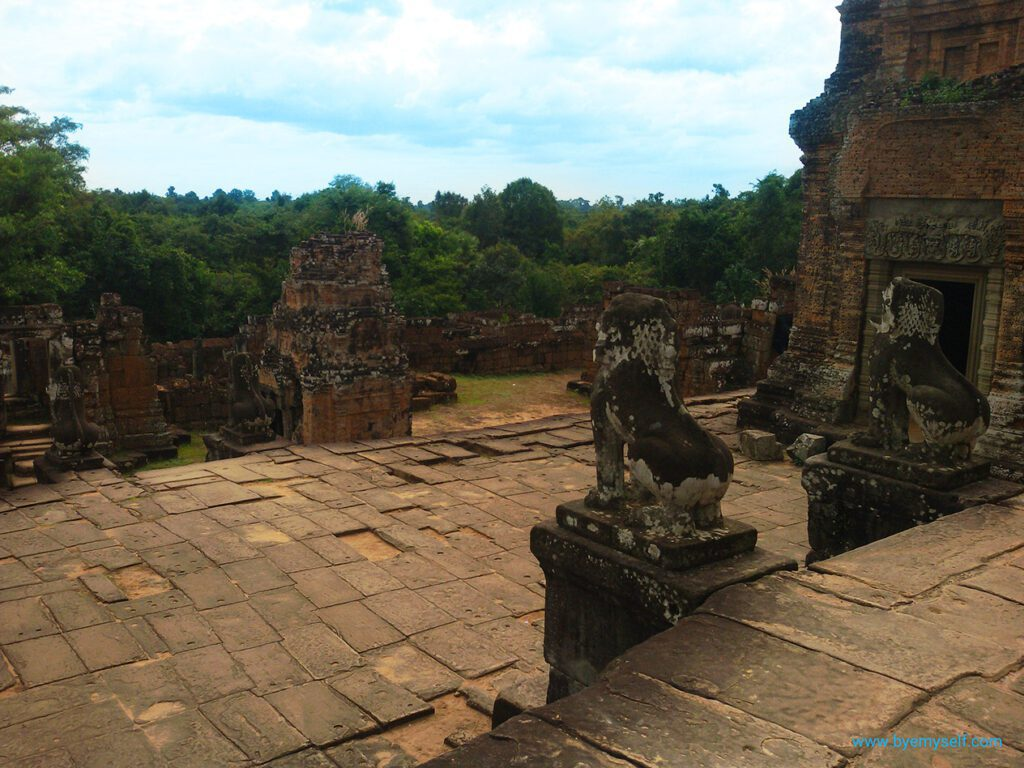 Beautiful views from the Eastern Mebon in Angkor, Cambodia