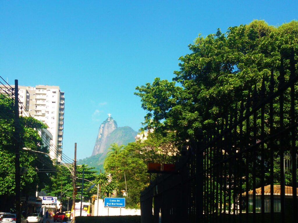 Neighborhood of Botafogo from where you can see the Cristo Redendor.
