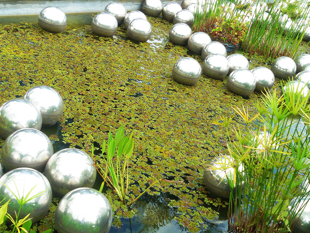 Narcissus Garden by Yayoi Kusama at INHOTIM Botanic Garden and Gallery.