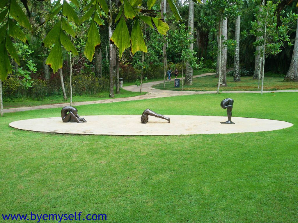Sem título, 2000; Sem título, 2002; Sem título (Bronze 5) by Edgard De Souza at Inhotim Gallery and Botanic Gardens in Brumadinho, Brazil
