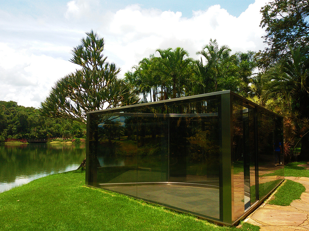 Dan Graham's Bisected Triangle at INHOTIM Botanic Garden and Gallery