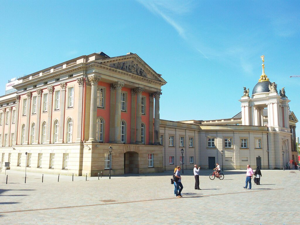 The newly reconstructed City Palace in Potsdam, the great small town, introduced in this guide