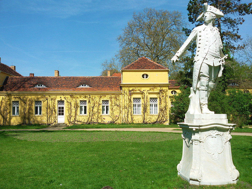 Statue of Frederick the Great at Sanssoucis in Potsdam