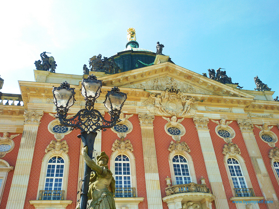 Facade of the Neues Palais in Potsdam.