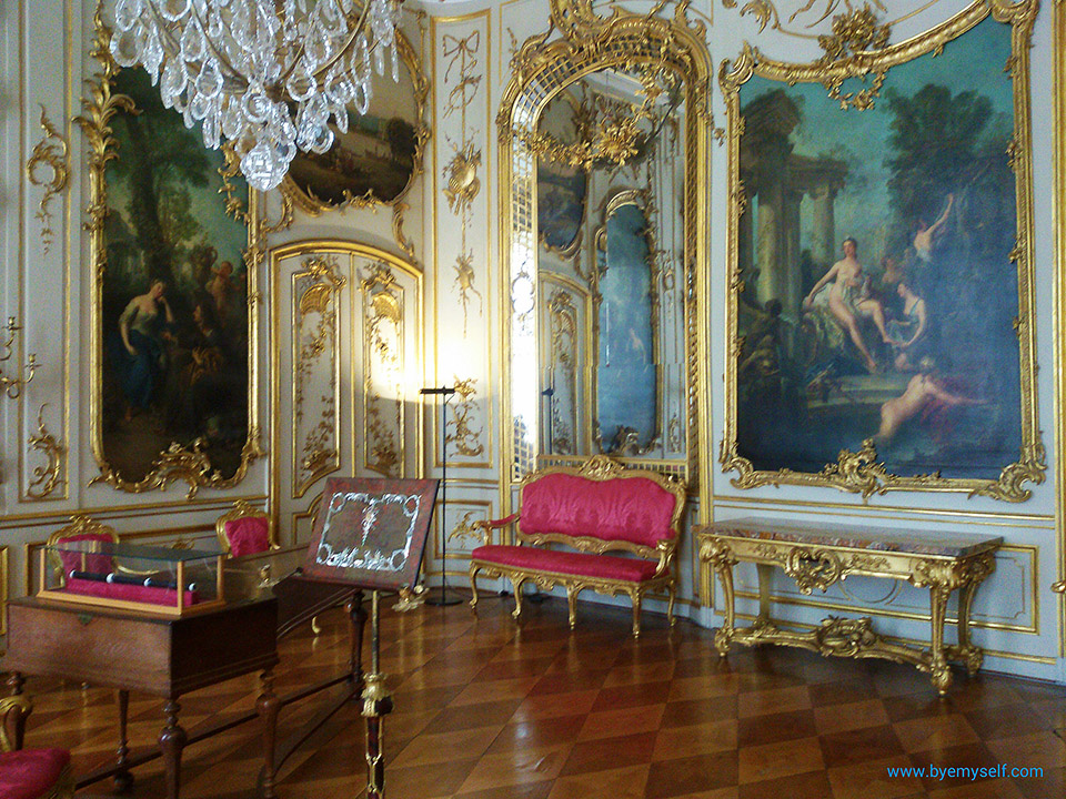 Frederick's music room where he pursued his passion for playing the cross flute.