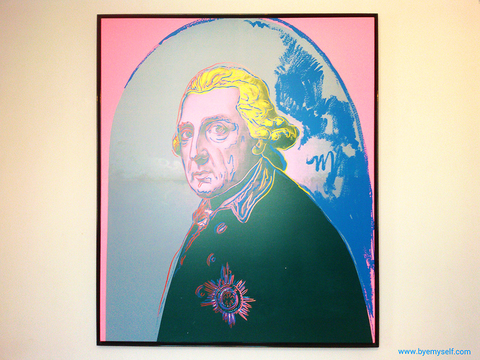 Frederick the Great, portrayed by Andy Warhol