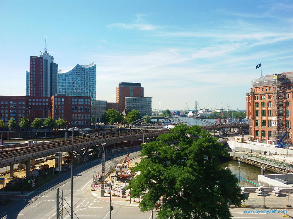 Overground train in Hamburg