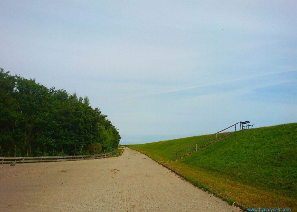 Dike on the island of Neuwerk