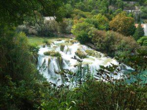 Waterfall at the Krka National Park