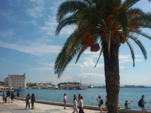 Riva Promenade in Split Croatia