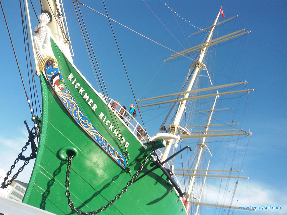 The Rickmer Rickmers sailing ship in the Harbor of Hamburg
