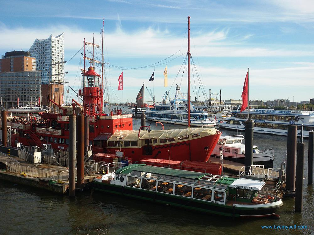 The Feuerschiff at the Port of Hamburg