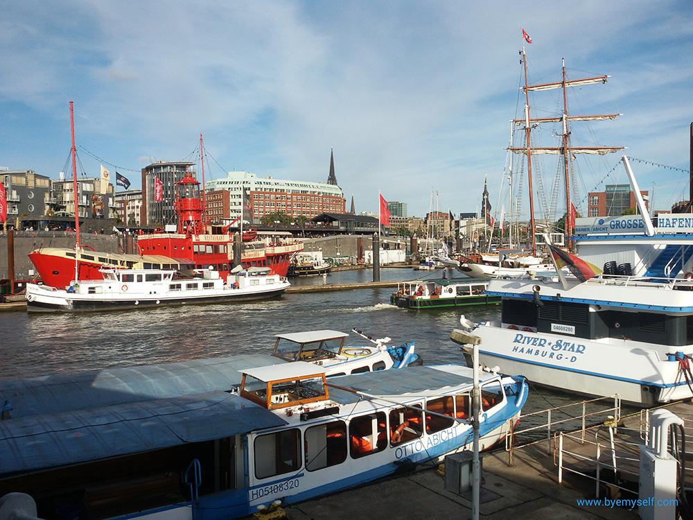 Cruise ships at Hamburg Harbor