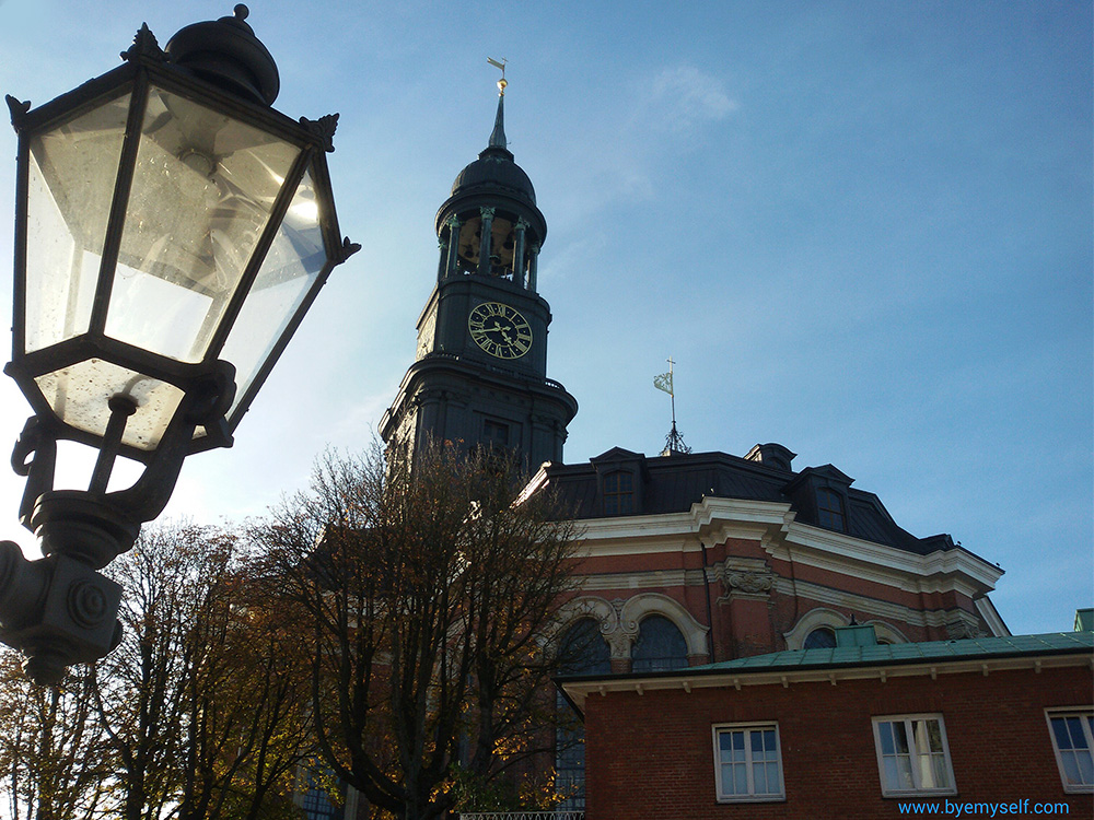Hamburg's most important landmark, St. Michaelis church, probably better known by its nickname Michel.