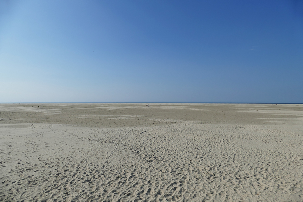 Large beach at Borkum