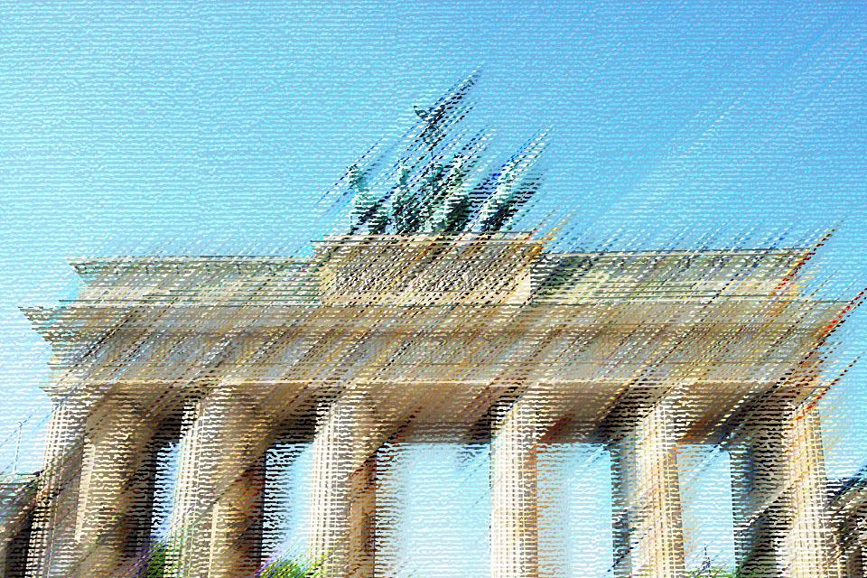 Brandenburg Gate in Berlin, Capital of Germany