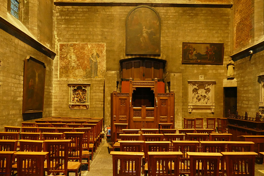 Anderlecht's core, the Church of Saint Peter and Saint Guidon.