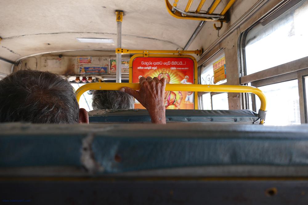 On a bus in Sri Lanka