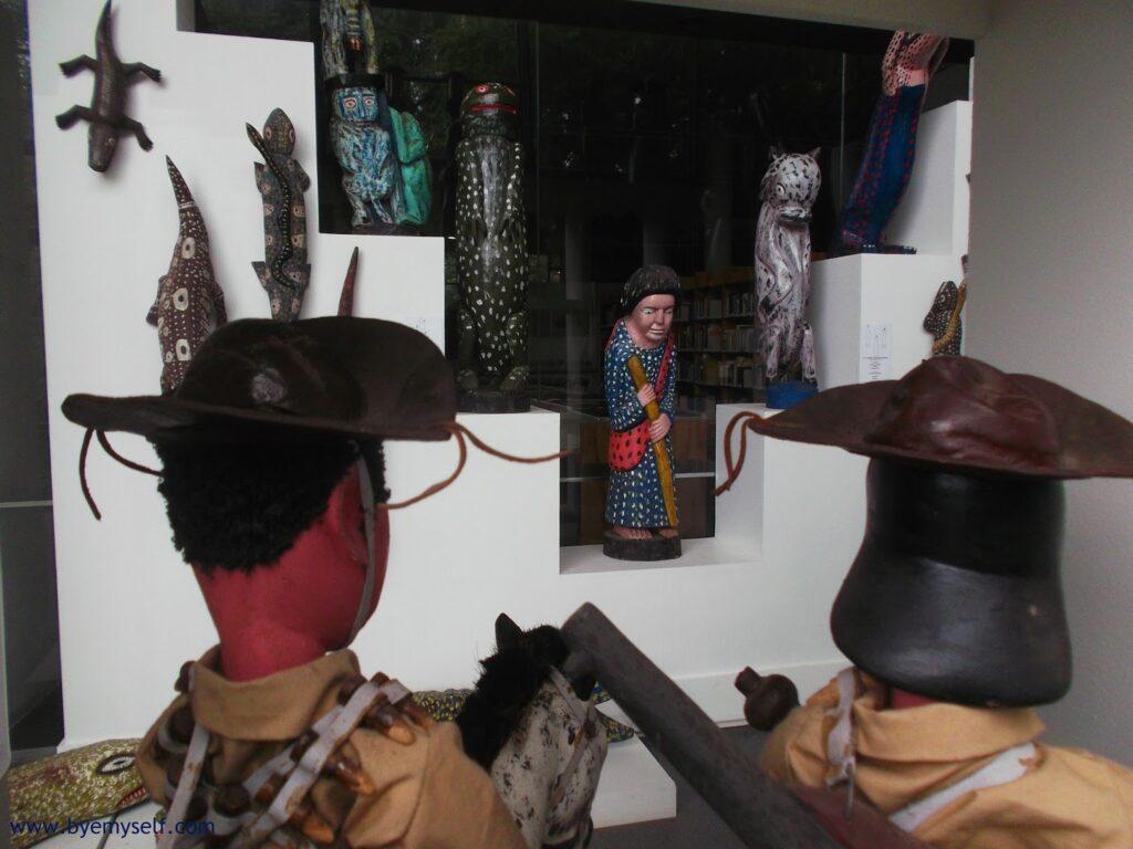 Sculptures at the Museu Afro Brasil