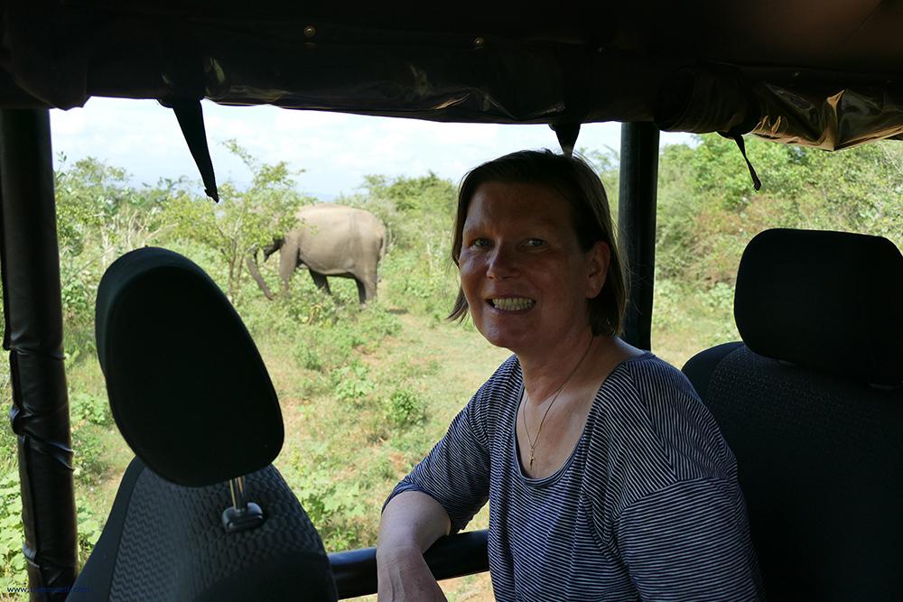 Renata Green on a safari in Uduwalawe