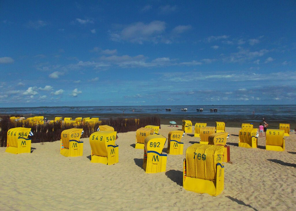 Beach Baskets on the Beach of Cuxhaven