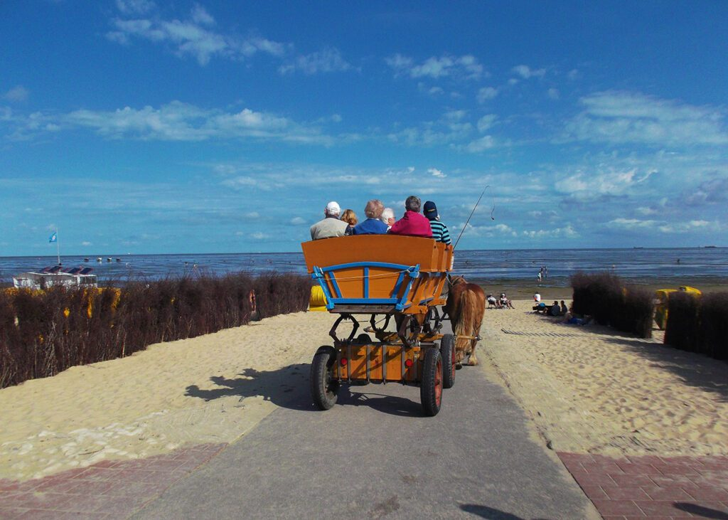 A carriage is the alternative to walking on water from Cuxhaven
