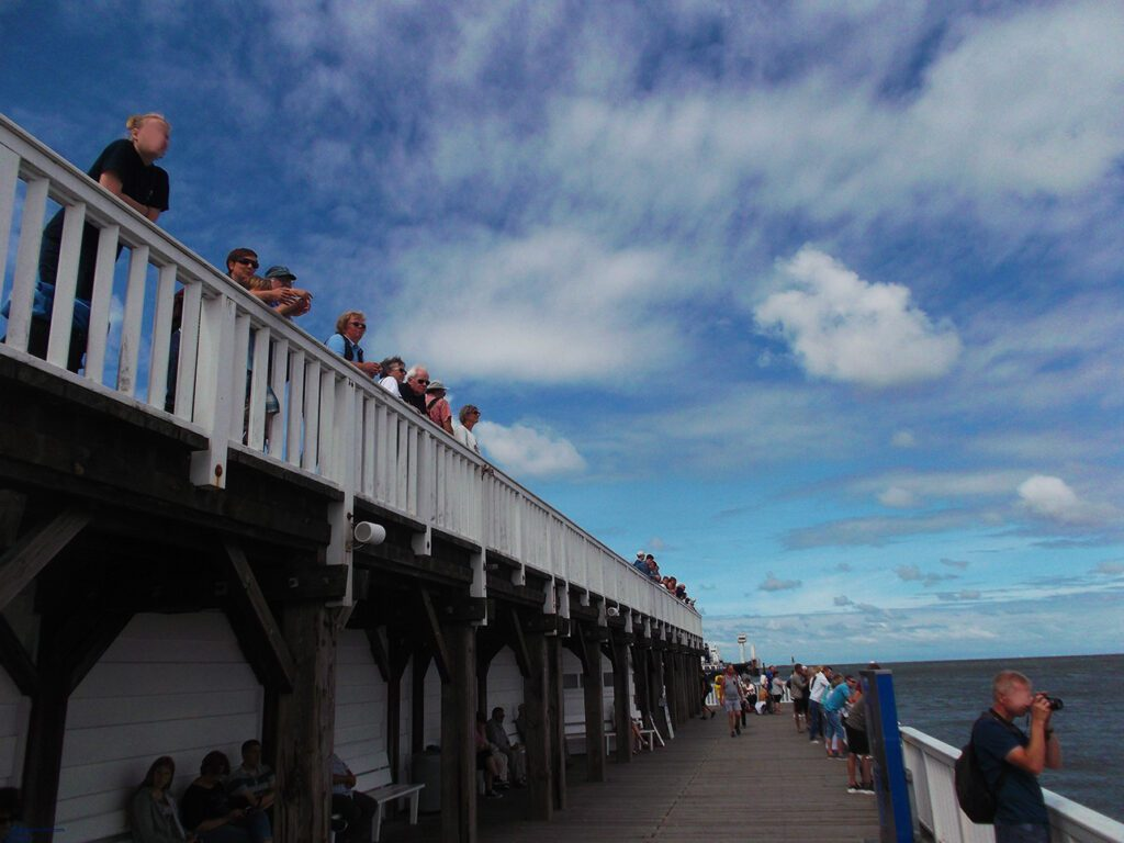 The Alte Liebe, a wooden pier and jetty, built in 1733 in Cuxhaven