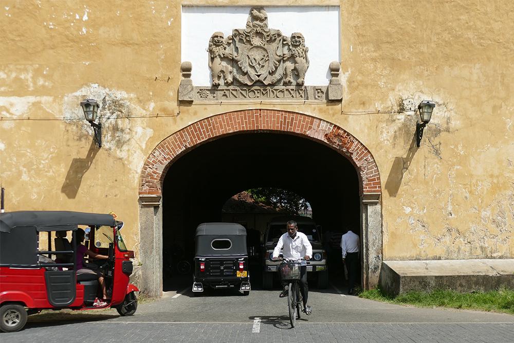 The Old Gate of Galle Fort Sri Lanka