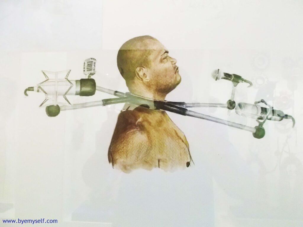 "Sidney Amaral ""Estudo para gargalheira ou quem falará por nós?"" (Study of a gargalheira* or who will be speaking for us?)  at the Museu Afro Brasil"