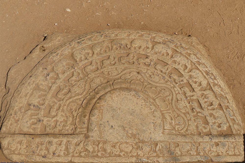 One of the famous moon stones - basically very fancy doormats - in Anuradhapura in Sri Lanka